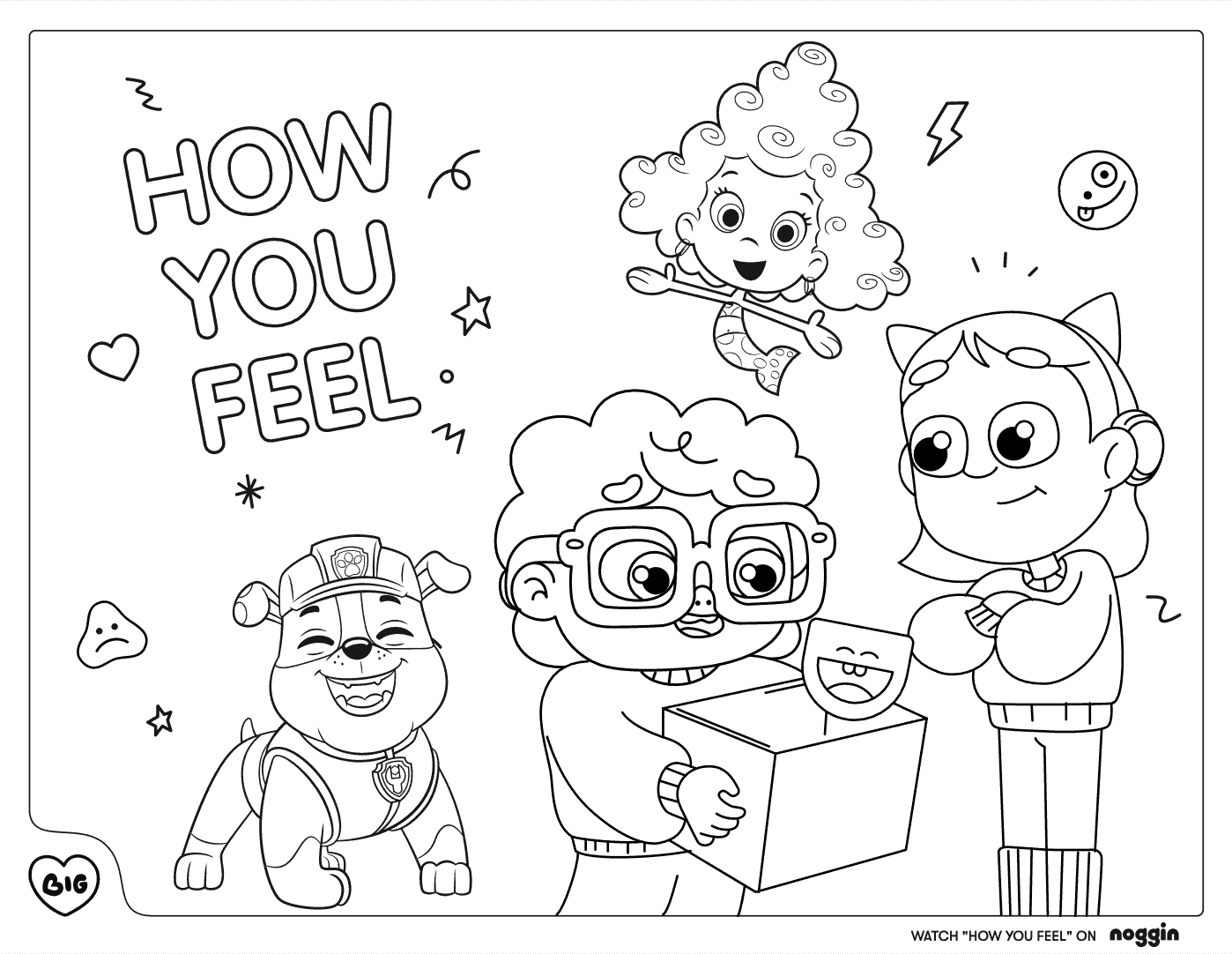 How You Feel Coloring Book