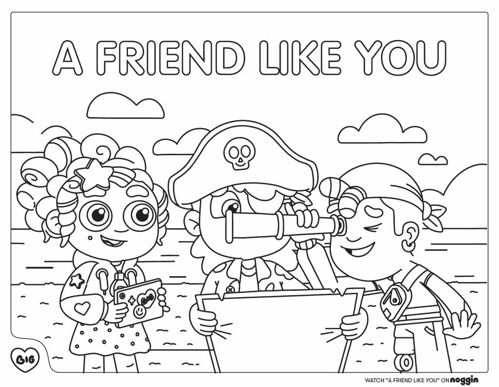 A Friend Like You Coloring Sheet